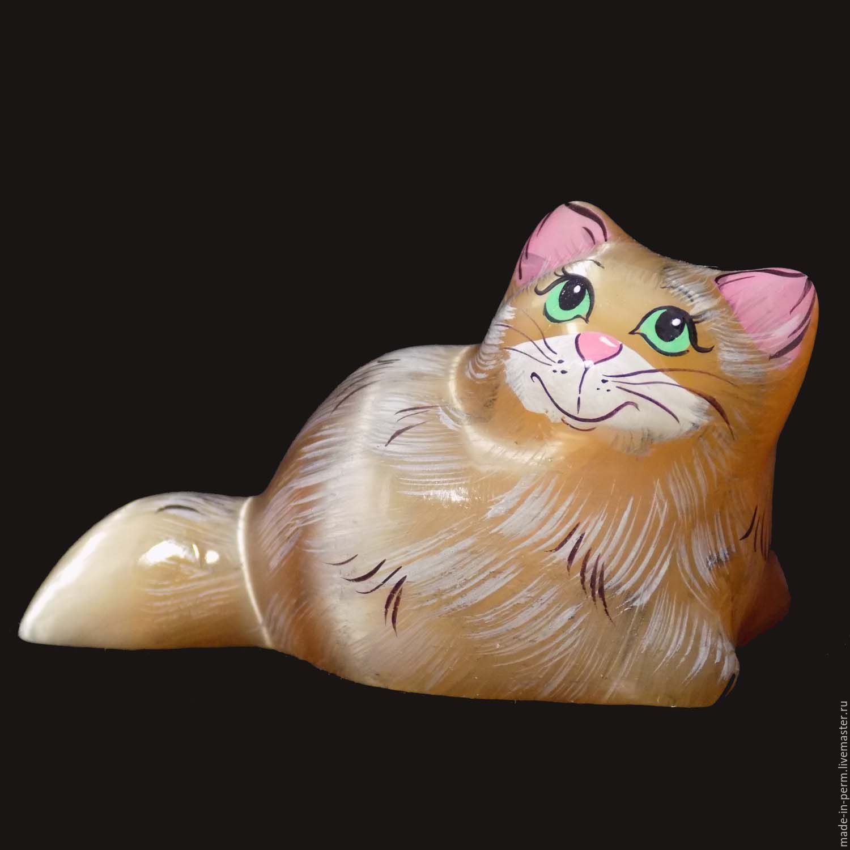 Фигурка кота из камня