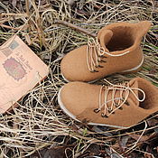 """Обувь ручной работы. Ярмарка Мастеров - ручная работа Ботинки валяные """"Маленький принц"""". Handmade."""