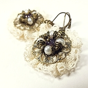 Украшения handmade. Livemaster - original item Morning Lace Fairy. earrings. Handmade.
