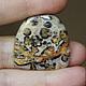 2699 Яшма леопардовая, размер 28,5х27,5х4мм, 375руб.