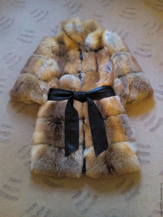 Верхняя одежда ручной работы. Ярмарка Мастеров - ручная работа. Купить Шубка рыжая лиса. Handmade. Рыжий, шуба из лисы