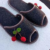 Тапочки ручной работы. Ярмарка Мастеров - ручная работа Тапочки женские из войлока. Handmade.