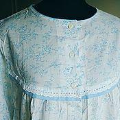 Одежда винтажная ручной работы. Ярмарка Мастеров - ручная работа Хлопковая ночная сорочка. Handmade.
