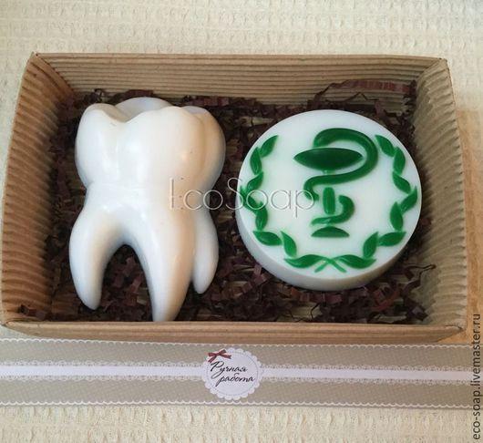 Мыло ручной работы. Набор мыла `Стоматолог`. Handmade.