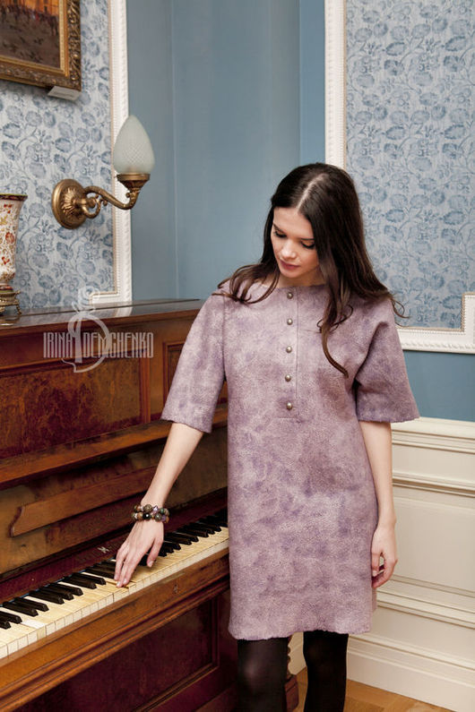 Платья ручной работы. Ярмарка Мастеров - ручная работа. Купить Валяное платье «Сакура». Handmade. Street style, авторское платье
