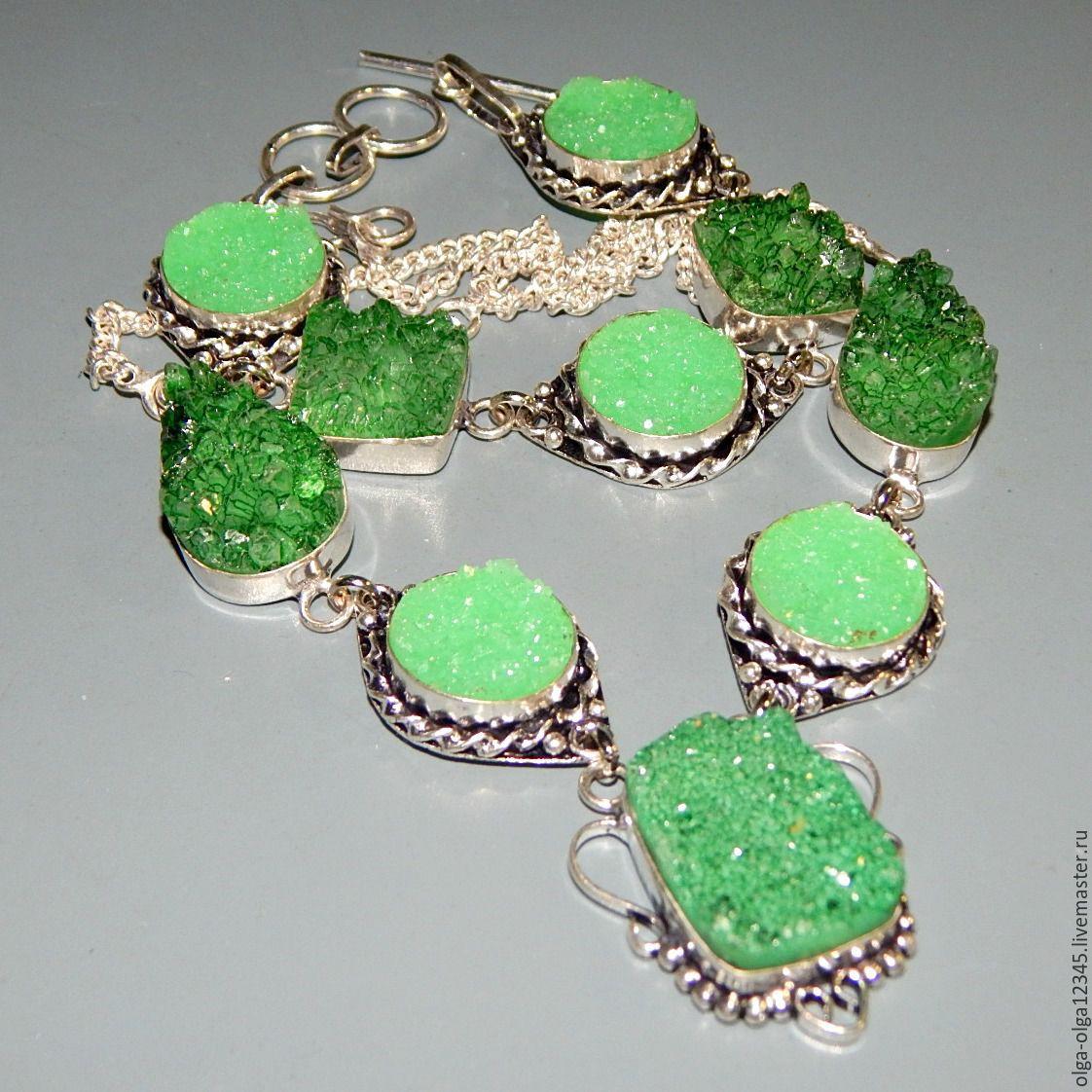 Ювелирные украшения из агата в серебре фото