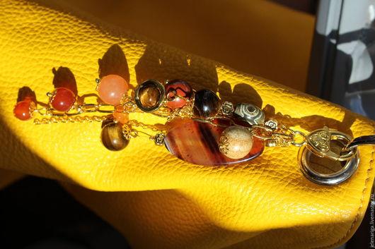 Кулоны, подвески ручной работы. Ярмарка Мастеров - ручная работа. Купить Подвеска Golden Eye. Handmade. Золотой, для сумки брелок