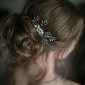 Украшения ручной работы. Ярмарка Мастеров - ручная работа Свадебный гребень для волос Иней. Handmade.