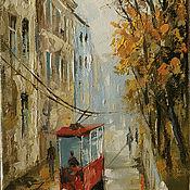 Картины и панно ручной работы. Ярмарка Мастеров - ручная работа осенний трамвайчик. Handmade.