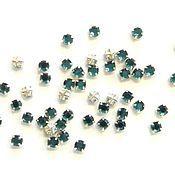 Материалы для творчества handmade. Livemaster - original item 10pcs Rhinestone DACs Bermuda blue ss20 4,6-4,8 mm Czech round sewn cross. Handmade.