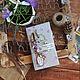Блокноты ручной работы. Ярмарка Мастеров - ручная работа. Купить Блокнот садовода. Handmade. Бледно-сиреневый, сад, ткань хлопок