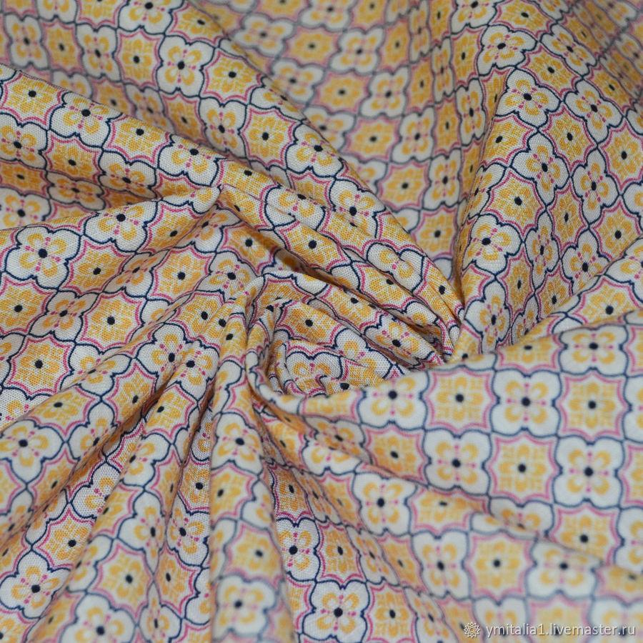 Ткани: 0,75 м Поплин из хлопка с мелким рисунком Прада – купить на Ярмарке Мастеров – O3QH8RU   Ткани, Москва