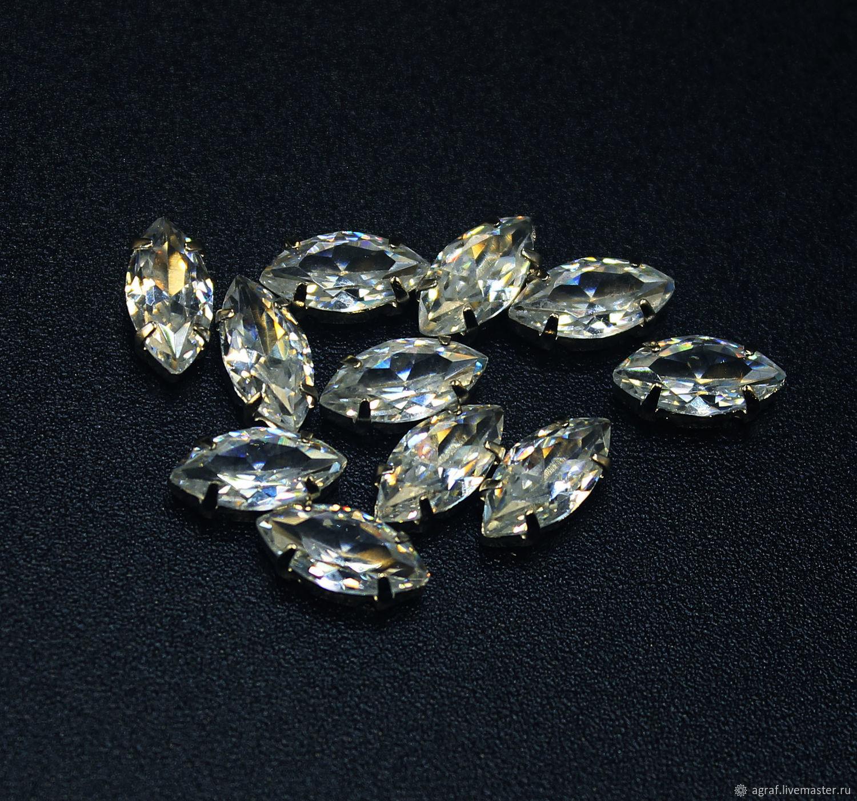 Rhinestones cubic Zirconia 10/5 mm Diamond, Rhinestones, Solikamsk,  Фото №1