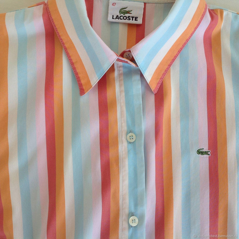 Одежда. Ярмарка Мастеров - ручная работа. Купить Винтаж  Бронь! Винтажная рубашка  Lacoste ... ca0004bcd40