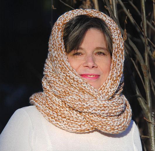 """Шали, палантины ручной работы. Ярмарка Мастеров - ручная работа. Купить Очень теплый снуд-шарф меланж """" Комфортный""""  (полушерсть). Handmade."""