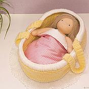 Куклы и игрушки handmade. Livemaster - original item Cradle-carrying for a doll long ago to 35 cm. Handmade.