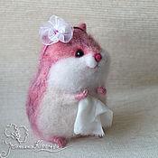 Куклы и игрушки ручной работы. Ярмарка Мастеров - ручная работа Хомячок розовый. Handmade.