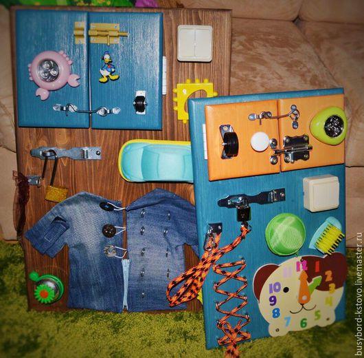 Развивающие игрушки ручной работы. Ярмарка Мастеров - ручная работа. Купить Развивающая доска-бизиборд для малышей. Handmade. Бизиборд
