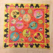 Аксессуары ручной работы. Ярмарка Мастеров - ручная работа Детский шелковый платок с героями из мультфильма. Handmade.