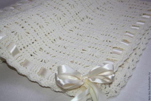 """Пледы и одеяла ручной работы. Ярмарка Мастеров - ручная работа. Купить Плед для новорожденного  """"Сream"""". Handmade. Белый, плед детский"""