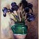 Картины цветов ручной работы. Ярмарка Мастеров - ручная работа. Купить Картина из шерсти . Ирисы. (свободная копия). Handmade. Разноцветный