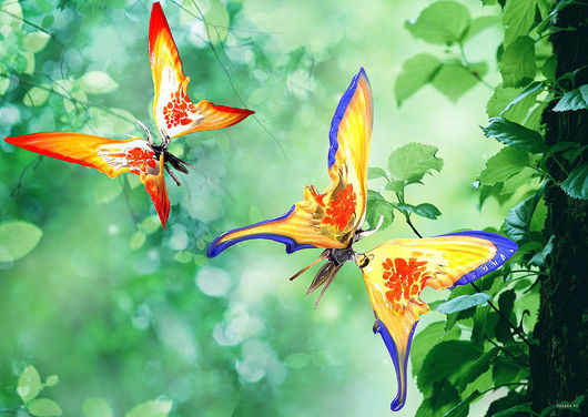 Interior Items handmade. Livemaster - handmade. Buy Decorative figurine made of colored glass Butterfly Paradise.Love, friendship