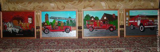 Картины 30*40 каждая, нарисованы на стекле с применением красок по стеклу и керамике,красок с эффектами, а так же витражных красок ...