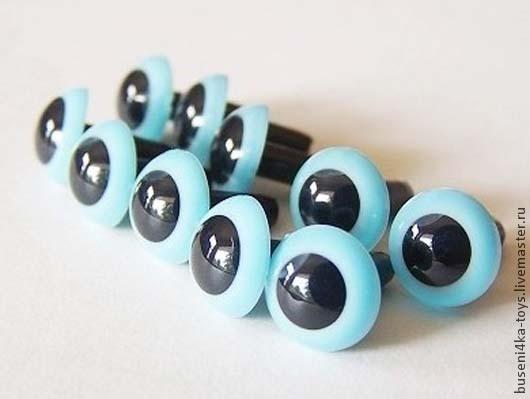 """Куклы и игрушки ручной работы. Ярмарка Мастеров - ручная работа. Купить 18мм Глаза для игрушек (светло-голубые) 2шт. """"6047"""". Handmade."""