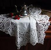 Винтаж ручной работы. Ярмарка Мастеров - ручная работа Винтажная  чайная скатерть. Handmade.