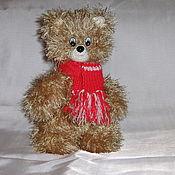 Куклы и игрушки ручной работы. Ярмарка Мастеров - ручная работа Медведик в шарфике. Handmade.