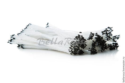 Белые ножки, черные головки, каплевидные. В пучке 25 двусторонних тычинок (производство - Таиланд). 10 руб пучок.