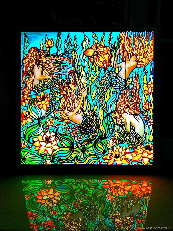 Картина с подсветкой в стиле ар нуво и модерн Русалки, Картины, Санкт-Петербург,  Фото №1