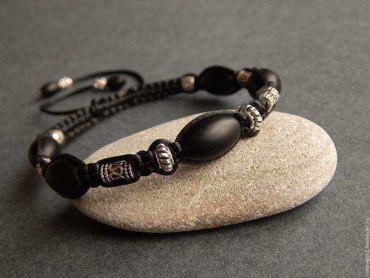 """Браслеты ручной работы. Ярмарка Мастеров - ручная работа. Купить браслет шамбала с серебром 925 """"Оберег II"""" шунгит. Handmade."""