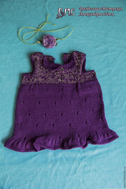 Одежда для девочек, ручной работы. Ярмарка Мастеров - ручная работа. Купить Платье Черничка. Handmade. Тёмно-фиолетовый, подарок
