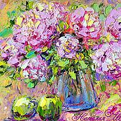 Картины и панно handmade. Livemaster - original item Painting with peonies
