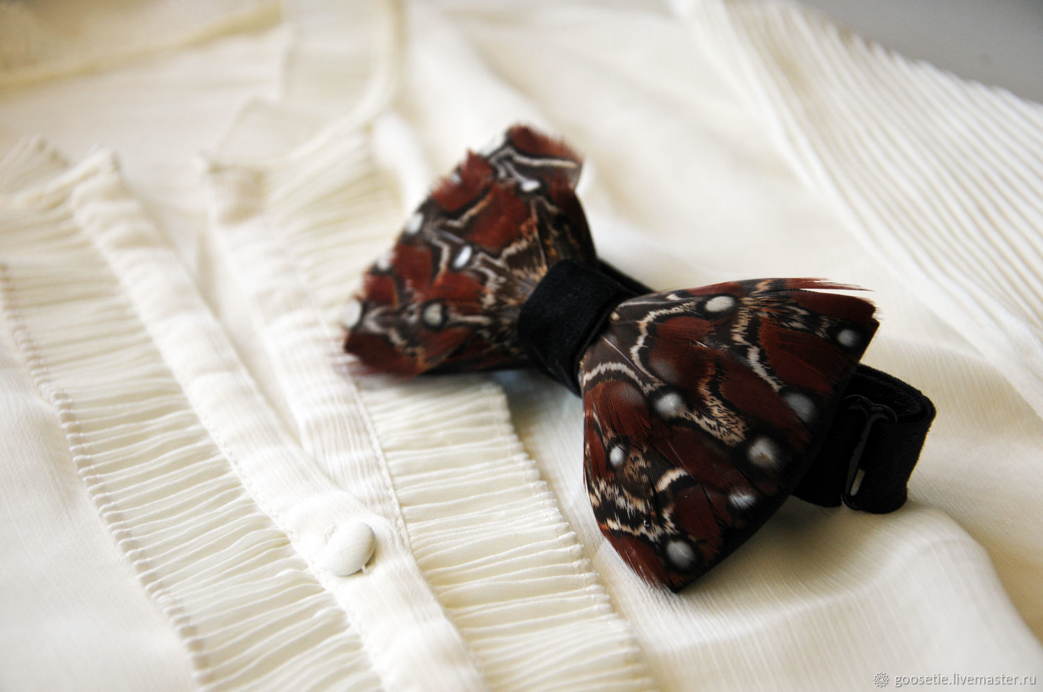 Bow tie with pheasant feathers, Ties, Sochi,  Фото №1