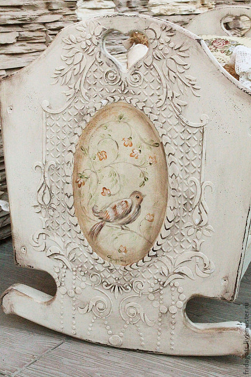 The painted furniture.The cradle of the 'Bird-nevelichka', Cradles, Kaluga,  Фото №1