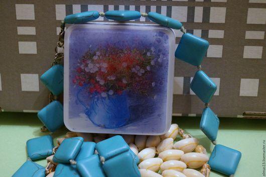 Мыло ручной работы. Ярмарка Мастеров - ручная работа. Купить Мыло с картинкой Весенний букет в горшке. Handmade. Комбинированный