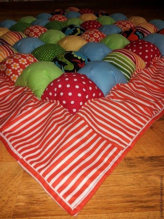 Детская ручной работы. Ярмарка Мастеров - ручная работа. Купить Детский коврик.. Handmade. Оранжевый, лоскутное шитье, вещи для детей