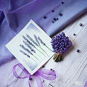 handmade. Livemaster - original item Lavender flower brooch. Handmade.