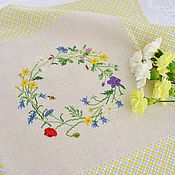 Для дома и интерьера handmade. Livemaster - original item Napkin with hand embroidery