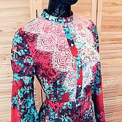 Одежда handmade. Livemaster - original item Dress in the Russian style `Firebird` evening dress in floor. Handmade.