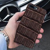 Сумки и аксессуары handmade. Livemaster - original item Leather Case for Iphone 7/8 crocodile. Handmade.