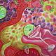 """Шарфы и шарфики ручной работы. Заказать Шелковый шарф """"Daiquiri Strawberry"""" . Батик.. Анна Агалина. Ярмарка Мастеров. Красный"""