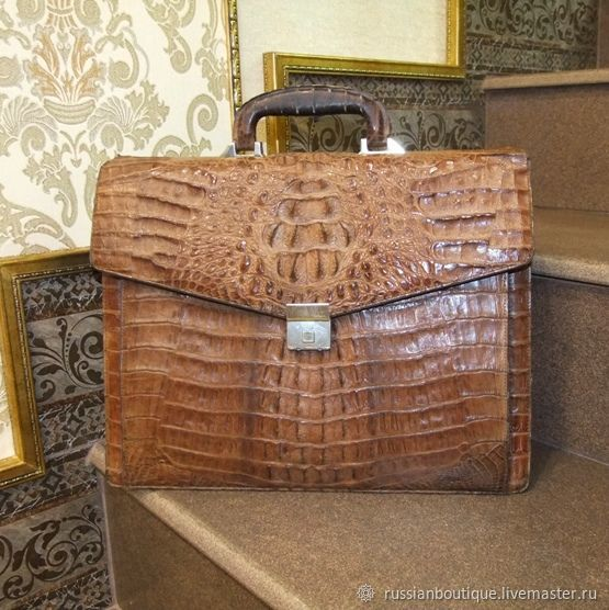 Винтаж: Винтаж:Luxury man! Швейцарский статусный портфель из кожи аллигатора, Сумки винтажные, Краснодар,  Фото №1