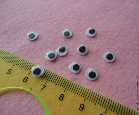 Другие виды рукоделия ручной работы. Ярмарка Мастеров - ручная работа. Купить Глазки бегающие 6 мм. Handmade. Глазки