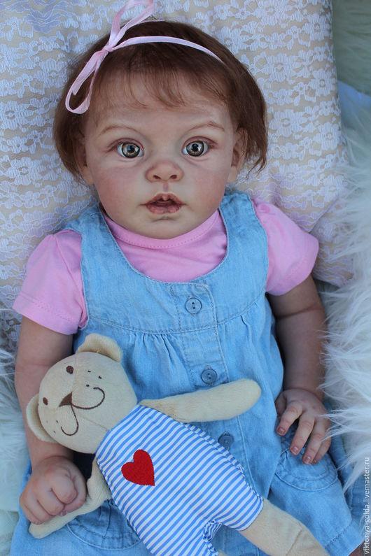 Куклы-младенцы и reborn ручной работы. Ярмарка Мастеров - ручная работа. Купить Малышка-реборн Грета. Handmade. Салатовый, Стеклогранулят