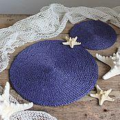 Для дома и интерьера handmade. Livemaster - original item Set of kitchen napkins raffia. Handmade.