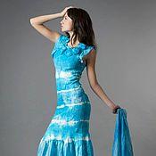 Одежда ручной работы. Ярмарка Мастеров - ручная работа Шелковое платье в авторской технике. Handmade.