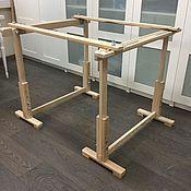 Инструменты для вышивки ручной работы. Ярмарка Мастеров - ручная работа Рама напольная с подставкой. Handmade.